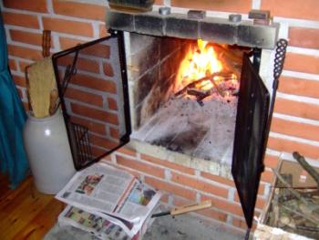 Värmande eld
